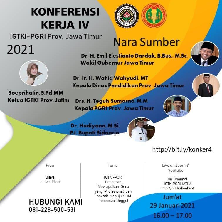 Konferensi kerja IV IGTKI PGRI 2021